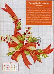 cross stitch pattern christmas table runner decorate