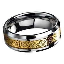 mens stainless steel wedding bands cool titanium stainless steel men s silver celtic wedding
