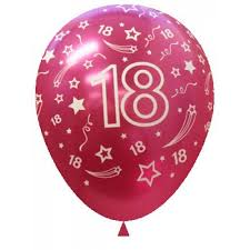balloons for 18th birthday 18th birthday balloon metallic fuchsia 30cm 14 16 hours of