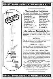 Chicago Wisconsin Map by The Chicago North Shore U0026 Milwaukee Railroad