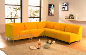 Yellow Leather Sofa by Decorating Ideas Excellent Yellow Leather Sectional Sofa And Blue