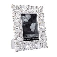 shop for the whitewash fleur de lis frame 5