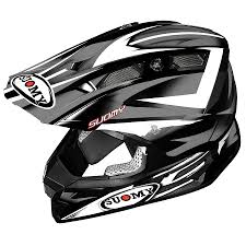 black motocross helmet suomy dirt bike helmet internal comfort and safety for end user