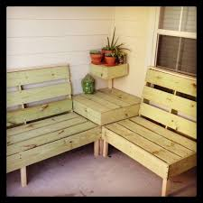 Patio Wooden Chairs Furniture Easy Diy L Shaped Patio Wooden Sectional Ideas For Both