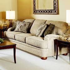 Transitional Sofas Furniture Hughes Furniture 5500 Transitional Sofa With English Arms