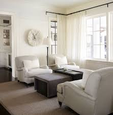 White Curtains With Blue Trim Decorating Curtain Rod Curtains Family Room Transitional With White