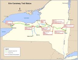 map of the erie canal report progress in closing erie canal trail gaps the york