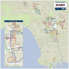 map of downtown los angeles dash los angeles system map maplets