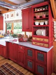 Picket Fence Projects  Homey Home Designs Clipboard On Red - Country cabinets for kitchen