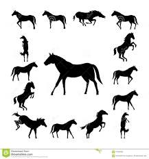 mustang horse silhouette set wild horse silhouette stock vector image of riding 67509480