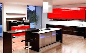 red high gloss kitchen cabinets stunning doors natural wooden