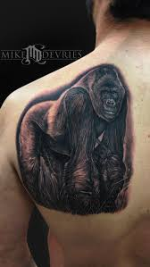 silverback gorilla by mike devries tattoonow
