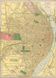 Map Of St Louis Mo The Usgenweb Archives Digital Map Library Hammonds 1910 Atlas