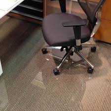plastic floor cover for desk chair glass office chair mats never dent mats by vitrazza