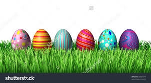 easter eggs in grass clipart clipartxtras