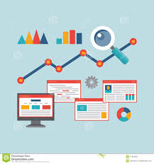 design style business people analytics business graph and seo on web stock