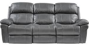 988 00 trevino smoke leather reclining sofa contemporary