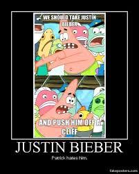 Meme Patrick - patrick star pushing meme justin bieber by onikage108 on deviantart