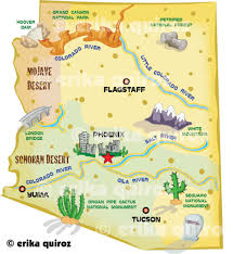 Grand Canyon On A Map Map Of Arizona