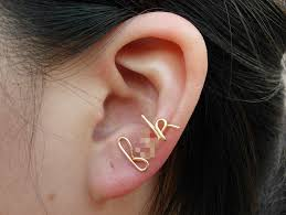 cartilage earrings gold wire f k earring cartilage earring ear cuff