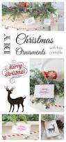 wooden christmas ornaments with free printable easy ornaments