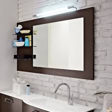 bathrooms design redoubtable wooden bathroom mirror with shelf