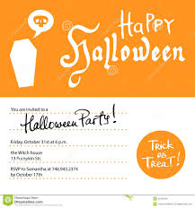 halloween party invitation design template stock photos image