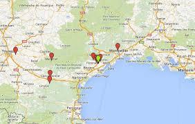 map of perpignan region maps of my pezenas languedoc rental villa canal boating holidays