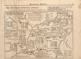 United States Learning Map by The Methodist Episcopal Church In Territory Where In 1861