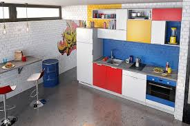 cuisine coloree cuisine coloree inspiration mondrian so coo c deco cuisine