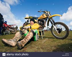 vintage motocross bikes twin shock vintage motocross rider mx dirt muddy with knobbly