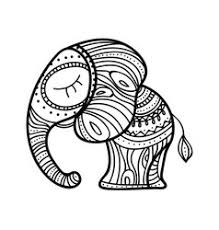 decorative elephant sketches royalty free vector image