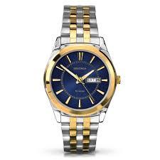 gold tone bracelet watches images Sekonda men 39 s blue dial two tone bracelet watch h samuel