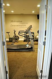 Home Gym Decor Ideas Basement Exercise Room By Serendipity Refined Ooohh I Wanna Do