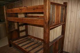 Barn Wood Bunk Bed  Barn Wood Furniture Rustic Furniture Log - Rustic wood bunk beds