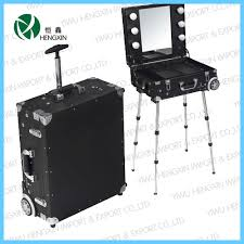 makeup luggage with lights hx d9608k china aluminum makeup vanity case with light manufacturer