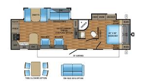 Rear Kitchen Rv Floor Plans by 2017 Jayco Eagle Ht 306rkds Model