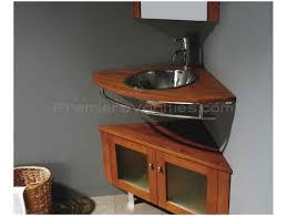 Rustic Corner Bathroom Vanity Bathroom Furniture Single Euro Sink Gold Antique White Small