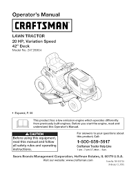 craftsman lawn mower 247 28904 user guide manualsonline com