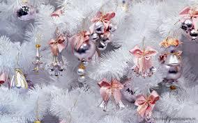 white christmas tree silver pink hd wallpaper desktop wallpapers