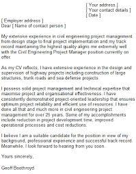 sample civil engineering cover letter