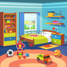 Boy Room Interior Design - boy room with big window suffused with light with bed cupboard