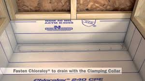 Chloraloy Shower Pan by Freestyle Linear Drain Installation In A Full Mortar Bed
