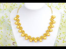 chain necklace design images How to string a galaxy gold pearl necklace design with chain jpg