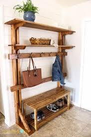 Pottery Barn Entryway Bench And Shelf Best 25 Rustic Hall Trees Ideas On Pinterest Door Hall Trees