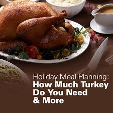 meal planning how much turkey do you need more
