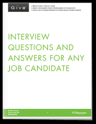 questions to ask job candidates when interviewing with answers giva