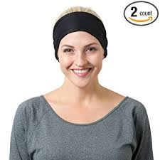 headbands that stay in place black solid and black striped headbands one size