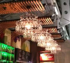 Wine Glass Chandelier Diy Wine Glass Chandeliers 52 Kitchen Adventures