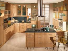 Kitchen With Track Lighting by Kitchen 49 A Modern Wooden Cabinet Kitchen With Hanging Lamp